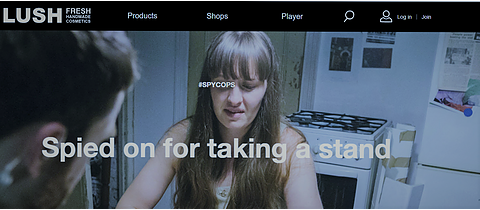 """Lush: """"Spied on for Taking a Stand"""" poster"""